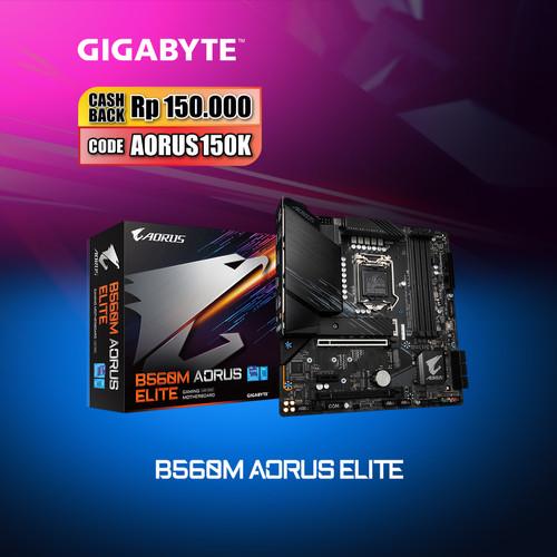 Foto Produk Gigabyte Motherboard B560M Aorus Elite Socket LGA1200 Micro ATX DDR4 dari Myclub