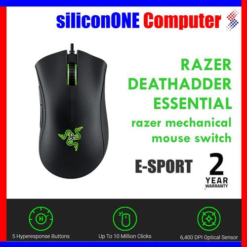 Foto Produk Razer DeathAdder Essential Gaming Mouse 6400 dpi 2 Tahun Indonesia dari silicon ONE Computer