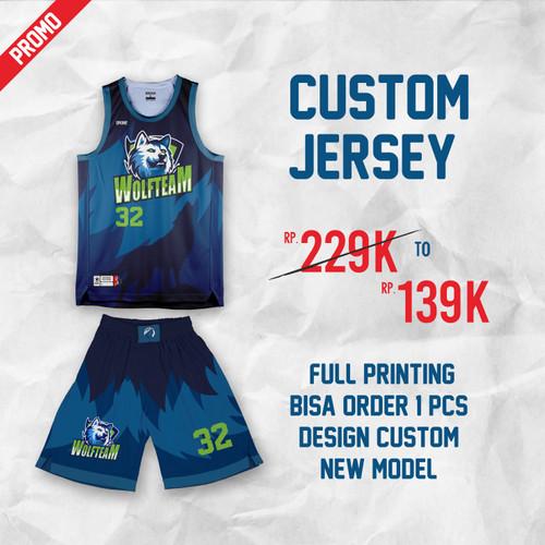 Foto Produk Jersey Full printing/ jersey Custom Basket - S dari Dronegear