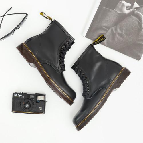 Foto Produk Sepatu boot pria wanita couple kulit asli Boston exodus model Docmart - 39, Hitam dari flavio & boston official