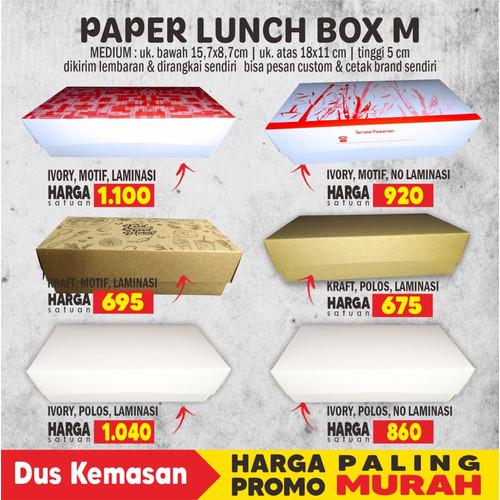 Foto Produk PAPER LUNCH BOX M - KRAFT LAM dari Dus Kemasan