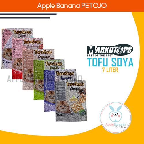 Foto Produk MARKOTOP SOYA TOFU Clump Cat Litter 7 Cat Litter Pasir Kucing - Cappuccino dari Apple Banana Petojo