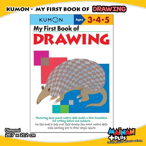 Foto Produk BUKU ANAK KUMON MY FIRST BOOK OF DRAWING USIA 3 4 5 dari MainanPlus