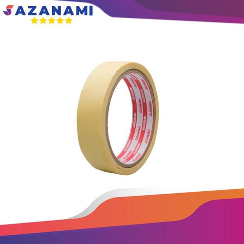 """Foto Produk 1 ROLL LAKBAN KERTAS MASKING TAPE 1"""" INCH 24MM X 15M KUNING SAZANAMI dari Sazanami Tape"""