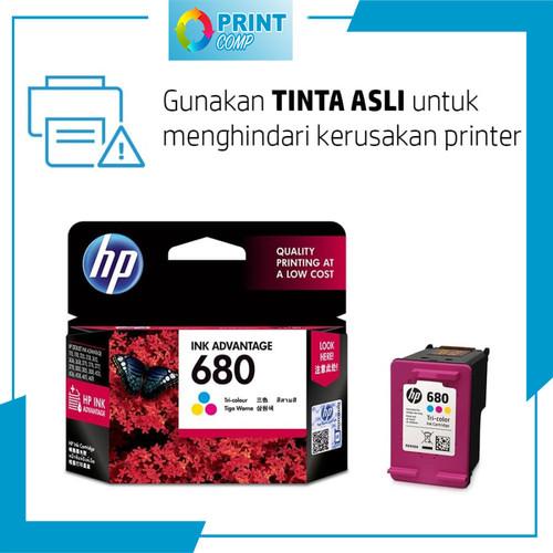 Foto Produk TINTA PRINTER HP 680 INK CARTRIDGE ORIGINAL 100% BLACK COLOR 2135 3637 - TRI-COLOUR dari PRINTCOMP