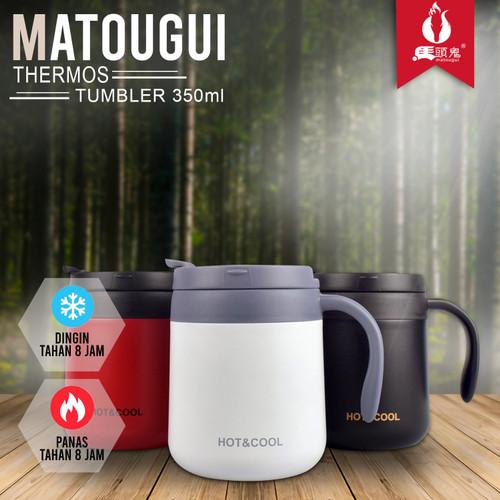 Foto Produk Matougui Gelas Minum K36322-4 350ml Termos Vaccum Cup Panas Dingin - Putih dari Matougui Outdoor Sport