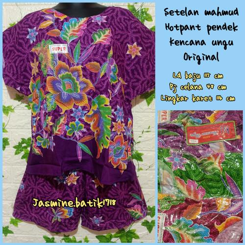 Foto Produk SETELAN CELANA HOTPANT ABG KENCANA UNGU KUM dari jasmine.batik1718