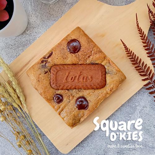 Foto Produk Biscof Lotus Chocolate Soft Cookies Square O'kies dari Square O'kies