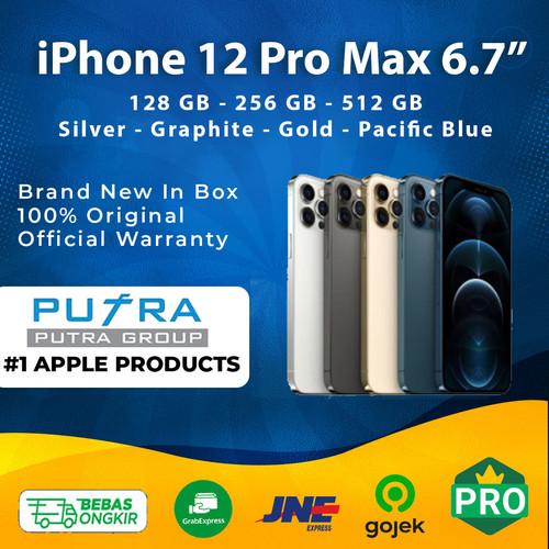 Foto Produk iPhone 128GB 256GB 512GB 12 Pro Max Graphite Blue Gold 128 256 512 - 128 GB, Silver dari Putra Group
