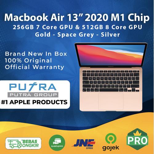 "Foto Produk Macbook Air 2021 13"" M1 Chip 256GB 512GB Grey Gold Silver 256 512 GB - 256 GB, Gold dari Putra Group"