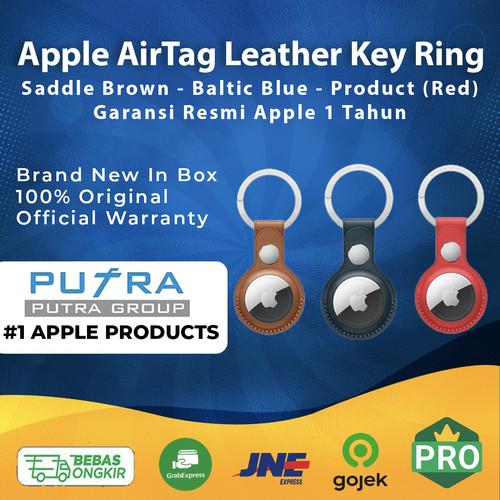 Foto Produk Apple AirTag Leather Key Ring Air Tag Air Tags AirTags Blue Brown Red - With AirTag, Tanpa Casing dari Putra Group
