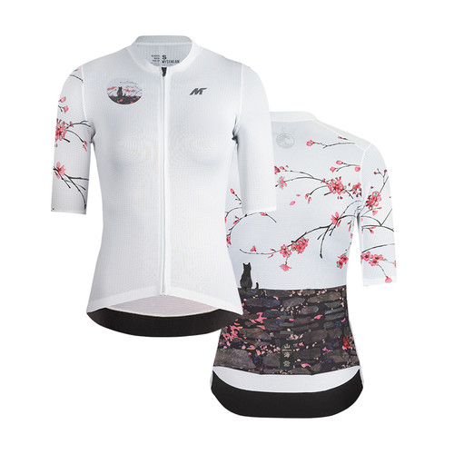 Foto Produk Jersey Women Mysenlan Peach Blossom MCQSS016B White Short Sleeve dari FittoBike