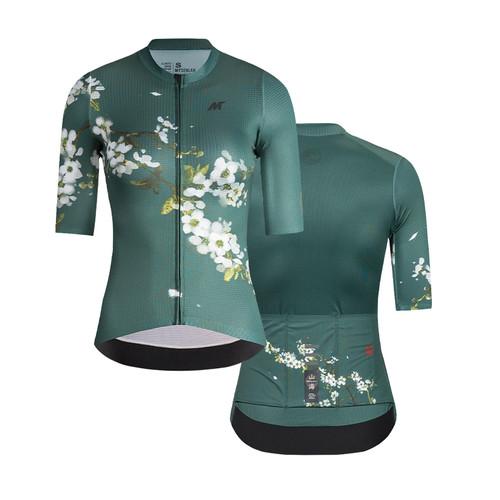 Foto Produk Jersey Women Mysenlan Plum Blossom MCQSS015B Green Short Sleeve dari FittoBike
