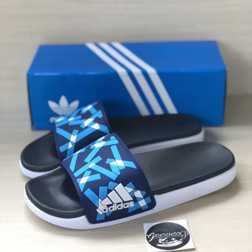 Foto Produk Sandal Adidas Adilette Slide On Blue import dari Gayoshoop