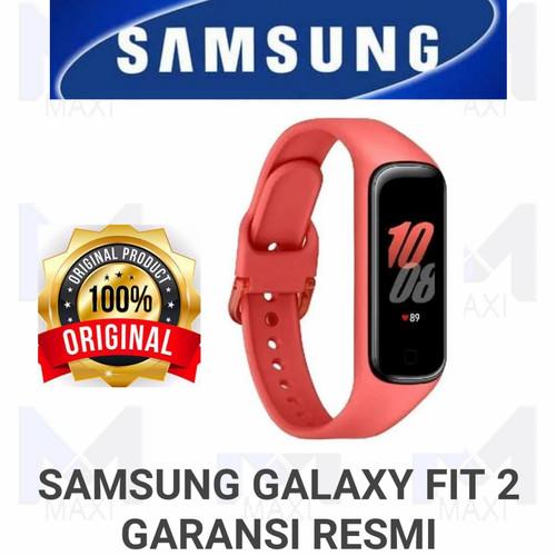 Foto Produk Smart Band Samsung Galaxy Fit 2 Garansi Resmi - SCARLET dari Maxi phone cell