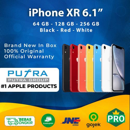 Foto Produk (IBOX) iPhone XR 64GB 128GB 256GB Garansi Resmi TAM 1 Tahun 64 128 256 - 64 gb, Black dari Putra Group