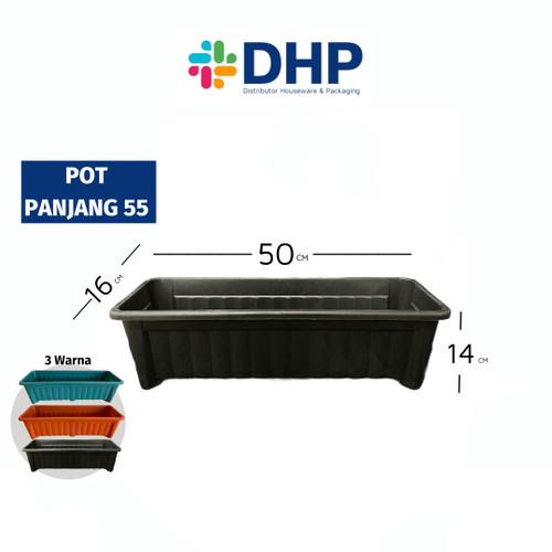 Foto Produk Pot Panjang 50cm Hitam Plastik Bunga Tanaman Hias Persegi 50 cm 55 dari Distributor Houseware & Packaging