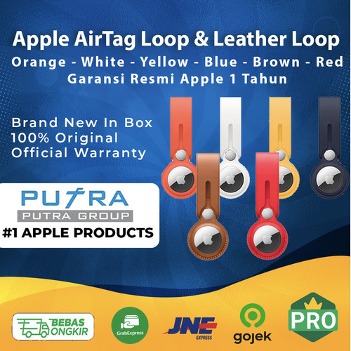 Foto Produk Apple AirTag Loop & Leather Loop | Air Tag | Air Tags AirTags Original - With AirTag, Tanpa Casing dari Putra Group
