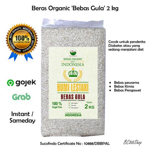 Foto Produk Beras Organik Bebas Gula (White Rice Sugar Free) 2kg Bumi Lestari - Beras 2Kg dari BC88Shop