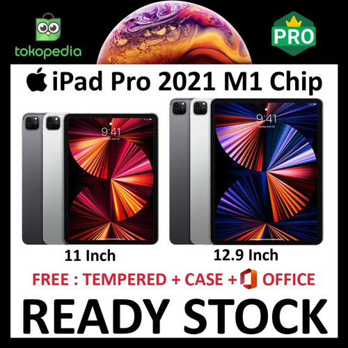 """Foto Produk iPad Pro 2021 M1 Chip 11 12.9 128GB 256GB 512GB 1TB 2TB WiFi Cellular - 128gb, 11"""" wifi dari Big Berry Cellular"""