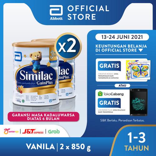 Foto Produk Similac GainPlus 850 g (1-3 tahun) Susu Pertumbuhan - 2 klg dari Abbott Official Store
