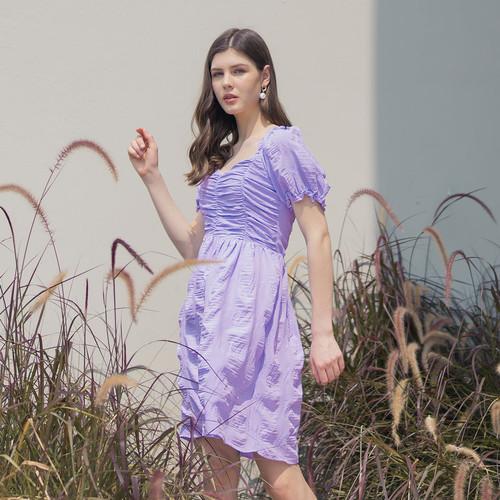 Foto Produk Chocochips - Kimora Dress Lilac - Ungu, M dari Chocochips Official Shop