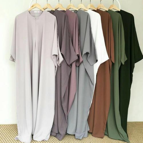 Foto Produk ABAYA BASIC DRESS/LONG DRESS/DRESS MUSLIM/BUSUI FRIENDLY - BLACK dari Mandevile Shop