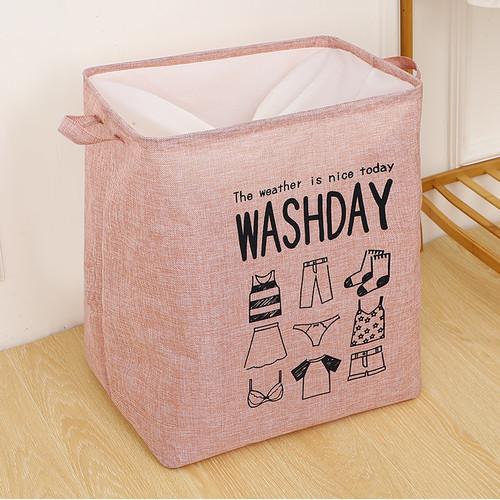 Foto Produk Keranjang Baju Cucian Pakaian Kotor Laundry Basket - Merah Muda dari SUNXIN