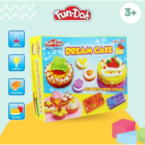Foto Produk Fun Doh Dream Cake - Lilin Mainan Anak FunDoh / PlayDoh / Play Doh dari SAN PLAY STORE