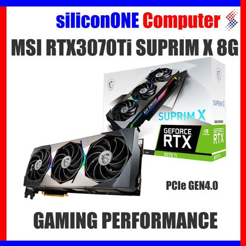 Foto Produk MSI RTX3070Ti SUPRIM X 8G RTX 3070 Ti 3070TI RTX3070 dari silicon ONE Computer