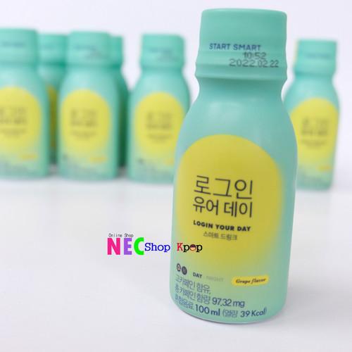 Foto Produk READY STOCK MINUMAN LOGIN YOUR DAY - SIWON CHOI - SMART DRINK dari NEC Shop Kpop