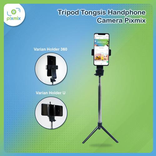 Foto Produk Tripod Tongsis Handphone Camera Pixmix | Selfie Stick Mini Stand Monop - Tripod Mini - H dari pixmix