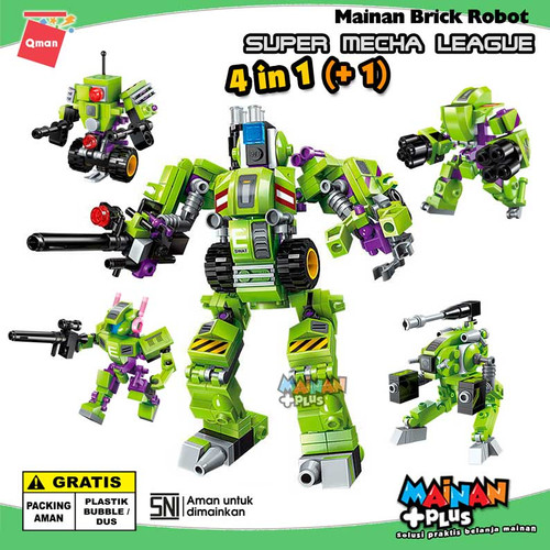 Foto Produk MAINAN LEGO ANAK LAKI LAKI QMAN BRICK ROBOT SUPER MECHA LEAGUE 4 IN 1 dari MainanPlus
