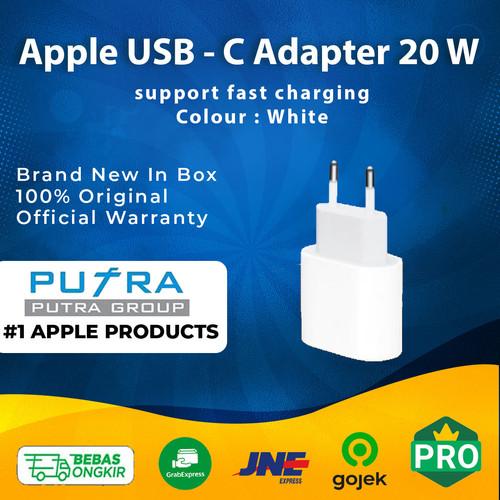 Foto Produk (ORIGINAL) Apple 20W 20 W Fast Charging USB - C Power Adapter Segel dari Putra Group