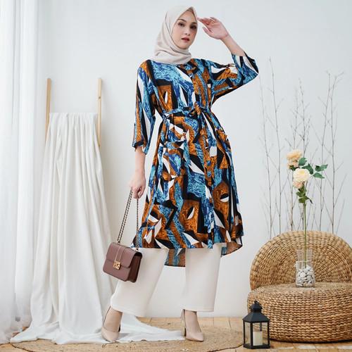 Foto Produk Shaina Dress - TUNIK RAYON MUSLIM JUMBO WANITA BUMIL BUSUI KEKINIAN - GLAMOUR dari Peony & Rose