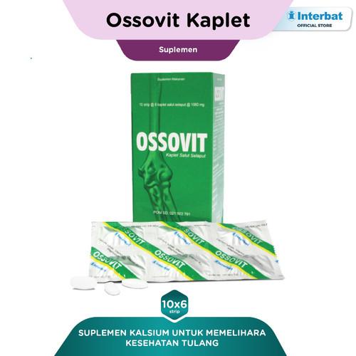 Foto Produk Ossovit Kaplet: Kalsium untuk Kesehatan Tulang - 10 strip @6 kaplet dari Interbat Consumer Health