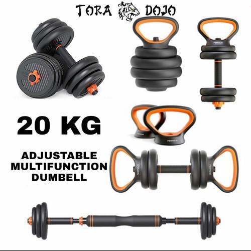 Foto Produk FED Multifunctional Dumbbell   Barbell   Kettlebell - 20KG dari TORA DOJO MMA SHOP