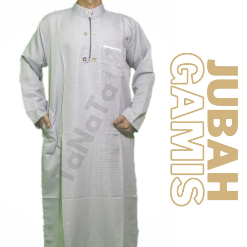 Foto Produk JUBAH GAMIS PRIA DEWASA BIG/JUMBO SIZE XXL BALOTELI PREMIUM - Abu-abu, XXL dari Gudang Garment Bandung