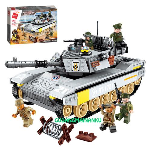Foto Produk Bricks Blocks Qman 1721 Combat Zone Mobil Tank Panzer Militer dari Gudangmainanku