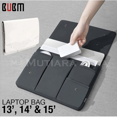 "Foto Produk BUBM Tas Laptop Notebook Pouch Tablet Bag 14"" 15"" - 14, Hitam dari TB.Mutiara Jaya"