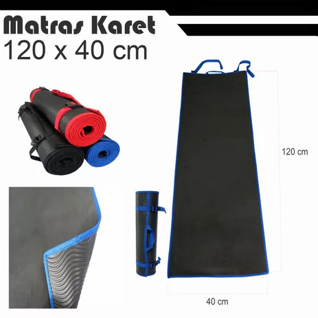 Foto Produk Matras Karet Gulung Alas Olahraga Senam Yoga Outdoor Camping Mattress - 120 x 40 dari TOKOPENDAKI Official