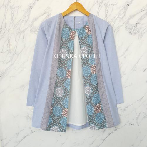 Foto Produk Atasan Batik 67 Abu Baju Blus Blouse kerja wanita modern - S dari OlenkaCloset