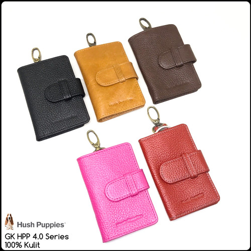 Foto Produk gantungan kunci hush puppies 4.0 keychain dompet stnk kulit keyfinder dari Exist Bag Store
