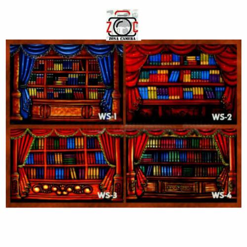 Foto Produk Background Wisuda / Rak Buku 3 x 2.5m dari zona camera