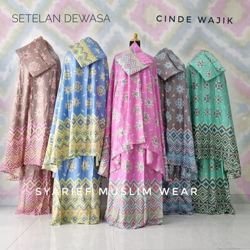 Foto Produk Mukena Katun Bali Super - Model Setelan (100% Asli) dari Syarief Muslim Wear