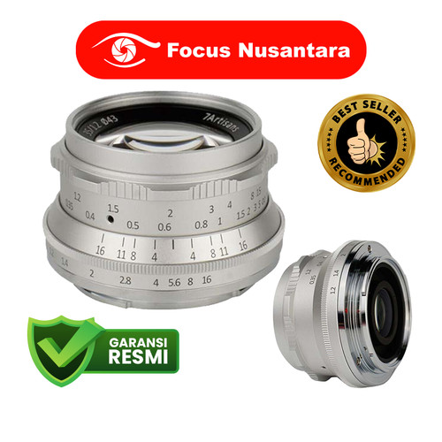 Foto Produk 7ARTISANS 35mm f/1.2 for Sony E-Mount Silver dari Focus Nusantara