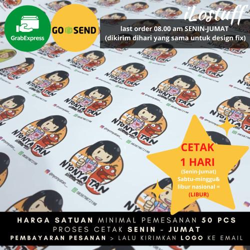 Foto Produk Cetak Sticker Logo Custom Vinyl MATTE / GLOSSY Anti Air Free Kiss Cut - 4x4 cm, Glossy dari ILOSTUFF PRINTING