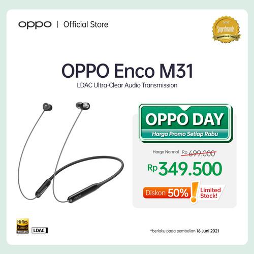 Foto Produk OPPO Headset Sport Enco M31 SOE - LDAC Ultra-Clear Audio Transmission - Hitam dari OPPO OFFICIAL STORE