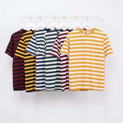 Foto Produk Ribsgold Kaos Strip Tshirt Stripe Parker GB 2 - S, hitam mustard dari Ribsgold Seller Official Looks