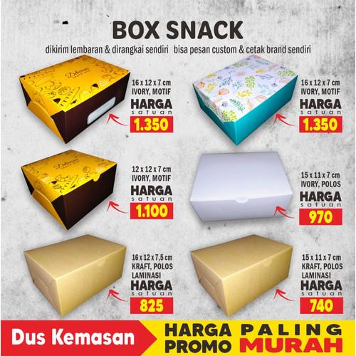Foto Produk Box Snack, Dus Snack, Box Kue uk 12x16x7 cm Foodgrade cetak Full Color - 15KRAFT LAM dari Dus Kemasan